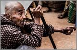 Burmese man at temple