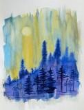 Morning Sky watercolor 9x12