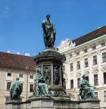 Statue of Emperor Franz I in front of Hofburg Palace