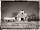 Barn in Winter Field-Shirley