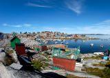 Aasiaat harbour & houses view