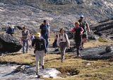 Brian leads up Uummannaq mountain