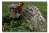 Tombstone of a late friend.