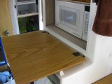 Added stops for the microwave cabinet