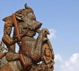 Swordsman on a lion