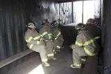 Inside mobile flashover training unit