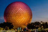 Spaceship Earth at sunset.