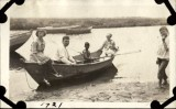 My grandfather at the oar, great grandmother and uncle at the stern