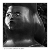 Womans head from a sculpture by Botero