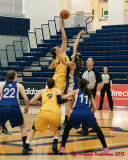 Queen's vs Ryerson W-Basketball 01-06-13