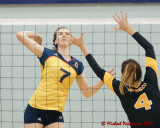 Queen's vs Waterloo W-Volleyball 01-13-13