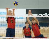 Queen's vs Waterloo M-Volleyball 01-13-13
