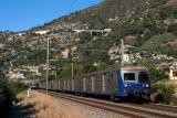 A regional train, coming from Nice, near Ventimiglia.