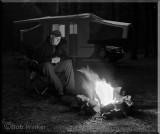 Night Camping Scene In Canada