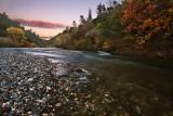 Autumn river sunset