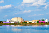 This might be the most colorful waste treatment plant around.