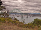 A shot of the Yaquina Bay Bridge