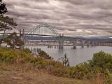 A shot of the Yaquina Bay Bridge
