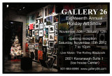 My new works hanging at Gallery 26 for 2012 Holiday Show