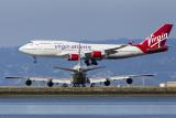 Virgin Atlantic Boeing 747-4Q8 Tubular Belle G-VHOT / Air China Boeing 747-4J6 B-2445