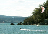 Kitesailing on Pittwater