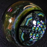 Here's WJC's sacred geometry side using a lot of sweet OG Green Moss glass for the pattern.