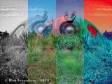 Burried Volkswagen Collage