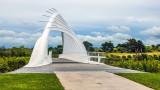 Waiwhakaiho bridge on New Plymouths Coastal walkway