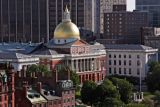 State House Aerial from Boston Common