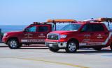 Red Lifeguard Trucks