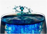 Blue splash.