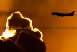 2012 - Virgin Atlantic B747-4Q8 G-VFAB airline aviation sunset stock photo #2442C