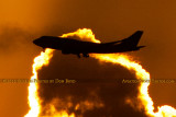 2012 - Virgin Atlantic B747-4Q8 G-VFAB airline aviation sunset stock photo #2443C
