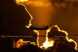 2012 - Virgin Atlantic B747-4Q8 G-VFAB airline aviation sunset stock photo #2444C