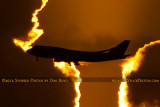 2012 - Virgin Atlantic B747-4Q8 G-VFAB airline aviation sunset stock photo #2444CC