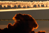 2012 - Contrails left across South Florida's western sky after sunset aviation stock photo #2458C