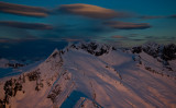 Lenticulars Clouds & Alpenglow, Mt. Challenger <br> (Pickets_021513_050-4.jpg)