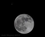 Full Moon & Jupiter close encounter