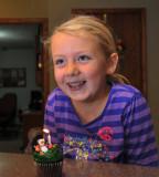 Macey's 7th Birthday cupcake at Grandmas.
