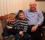 Paeltz boys with Great Grandpa Hoying