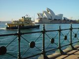 Opera House and one of the many Sydney ferries.