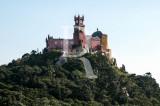 O Palácio da Pena Visto do Castelo dos Mouros