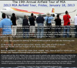 Information about the 2013 MIA Airfield Tour
