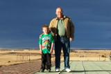 November 2012 - Kyler Kramer and his grandpa Don Boyd at Peterson AFB playground