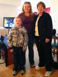 November 2012 - Kyler and Karen D. Kramer with Karen C. Boyd at our hotel room on Thanksgiving Day in northern Colorado Springs