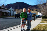 November 2012 - Kyler with his best buddy Hunter from across the street