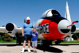 May 2012 - grandpa Don Boyd and Kyler with a USAF EB-57E Canberra #AF55-4279