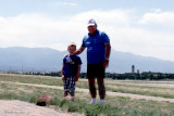 May 2012 - Kyler and grandpa Don Boyd at Peterson Air Force Base