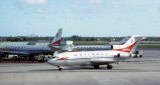 Mid 1960's - National DC8-21 N6571C, B727-35 N4610 and B727-35 N4618 at Miami International Airport
