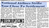 1975 - news article about 1975 Flight Attendant strike nearing the end